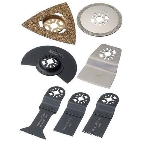 Assortiment 7 pcs de lames de scie oscillante universelle multi-usages - Bois, métal, joint, époxy - ZOUSET7 - Labor