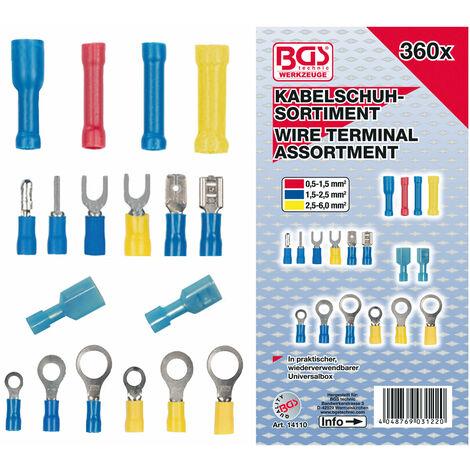 ASSORTIMENT BGS TECHNIC DE 360 COSSES ELECTRIQUES ISOLEES