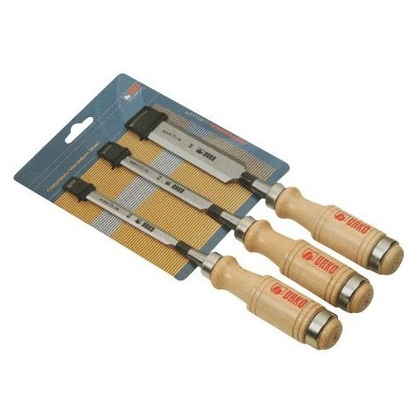 Assortiment de 3 ciseaux de menuisier 10 12 et 16 mm manche plastique 655-P - UR-5111655 - Urko - -