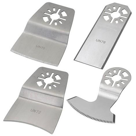 Assortiment de 4 couteaux de scie oscillante universelle Inox - Résidus colle, peinture, joint - ZOUSET6 - Labor - -