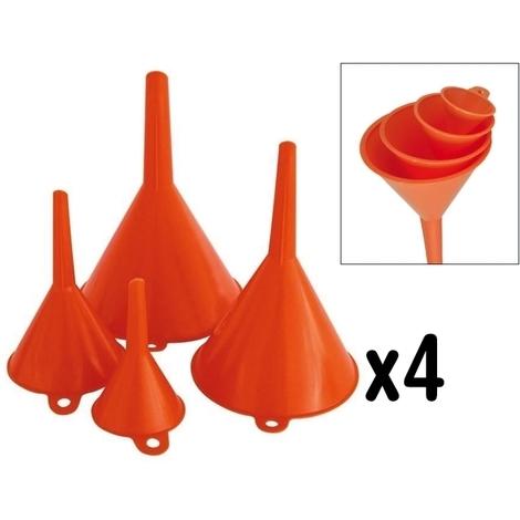 Assortiment de 4 entonnoirs plastique Haute densité