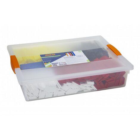 Caisse Probox de 400 cales plates EDMA pour carrelages, lambris, terrasses - 188955
