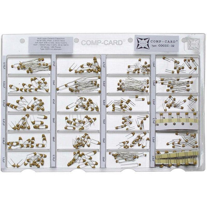 Assortiment de condensateurs c/éramiques cms 50 V 1 Set n.A