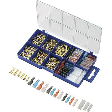 Assortiment de cosses à sertir 0.104 mm² 2.50 mm² transparent, noir, rouge, bleu TRU COMPONENTS 739647 260 pc(s)