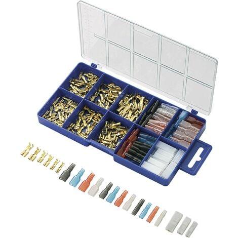Assortiment de cosses à sertir 0.104 mm² 2.50 mm² transparent, noir, rouge, bleu TRU COMPONENTS 739647 260 pc(s) S811841