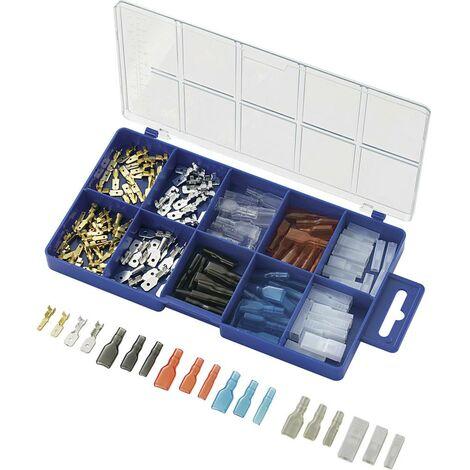 Assortiment de cosses à sertir 0.50 mm² 2.50 mm² transparent, noir, rouge, bleu TRU COMPONENTS 739660 160 pc(s)