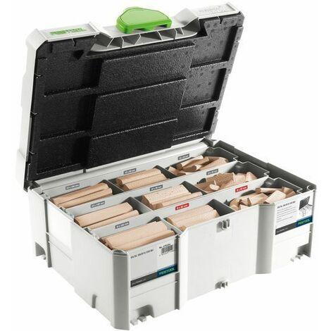 Assortiment de Domino FESTOOL XL en Hêtre - 306 pièces - DS/XL D8 / D10 - 498204