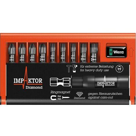 Assortiment d'embouts Bit-Check Impaktor, 10 pièces, PH/TORX®