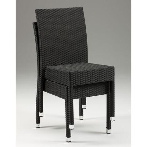 Asta Stackable Wicker Chair - Indoors/Outdoors