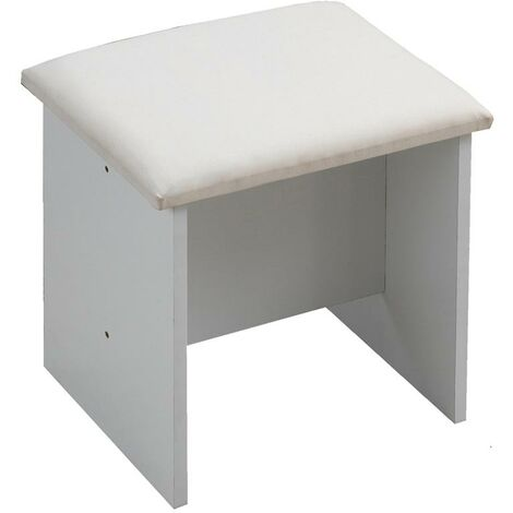 Astbury White Makeup Dressing Table Stool Bedroom Chair Seat Vanity Stool