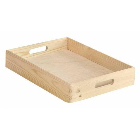 ASTIGARRAGA - Caisse de rangement sans couvercle pin massif - 20 x 15 x 9 cm - bois brut
