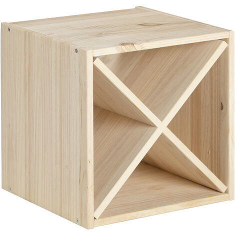 ASTIGARRAGA - Cube 2 cases horizontal - pin massif