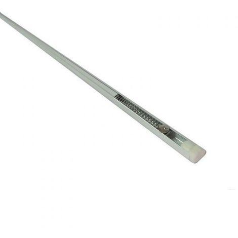 Bacchette Per Tende A Molla.Astina Bacchetta A Molla Tende A Vetro Bianca Regolabile Bastone Da 87 A 150 Cm