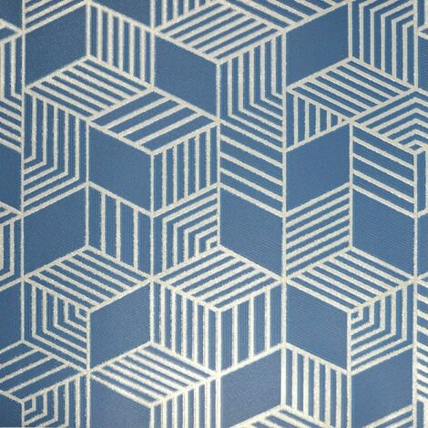 Astonia Geometric Wallpaper Holden Textured Glitter Vinyl Navy Blue Silver