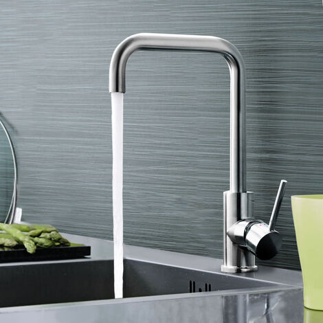 Astonion Kitchen Brass 360° Swivel Spout Sink Single Lever Mono Mixer Tap