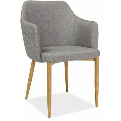 ASTOP   Chaise style scandinave bureau salle à manger   Dimensions: 84x46x46 cm   Revêtement en tissu   Chaise élégante - Gris