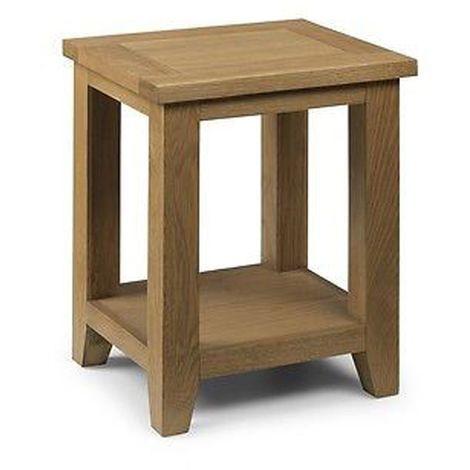 Astoria Lamp Table With Shelf Oak Wood Furniture Living Room Home Decor