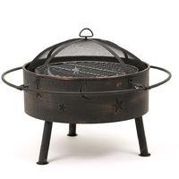 Astral Jardín Al aire libre Luna & Estrellas Firepit BBQ & Carbón Quemador