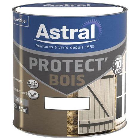 ASTRAL - Peinture bois satinée 0.5 L - blanc cassé + base white