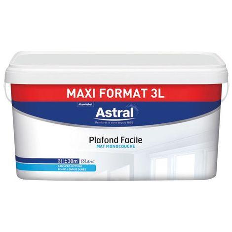 ASTRAL - Peinture plafond monocouche facile mat 3 L - blanc
