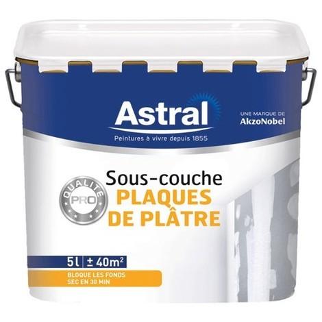 ASTRAL - Peinture sous-couche plaque de plâtre - blanc - 5 L