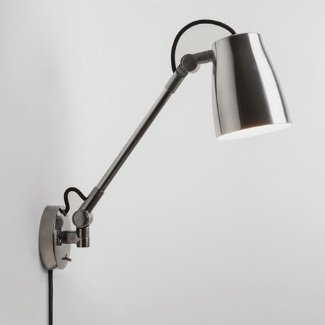 Astro Atelier Grande Wall Mounted Reading Light With Switch 28w E27 Aluminium