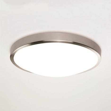 Astro Osaka 350 microwave PIR LED bathroom ceiling wall light nickel 24W IP44
