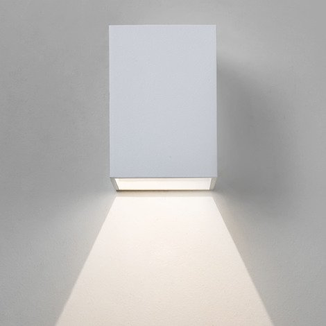 Astro Oslo 100 Wall Light 1 x 3w White 230v IP44 IP65 Non-Dimmable
