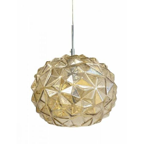 At Home Comforts Amber Faceted Pendant Light