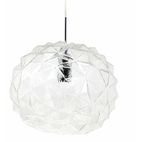 At Home Comforts Clear Faceted Pendant Light