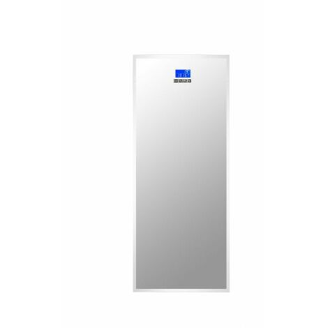 At Home Comforts Rectangular LED Illuminated Dressing Mirror with Bluetooth Speakers - Silver