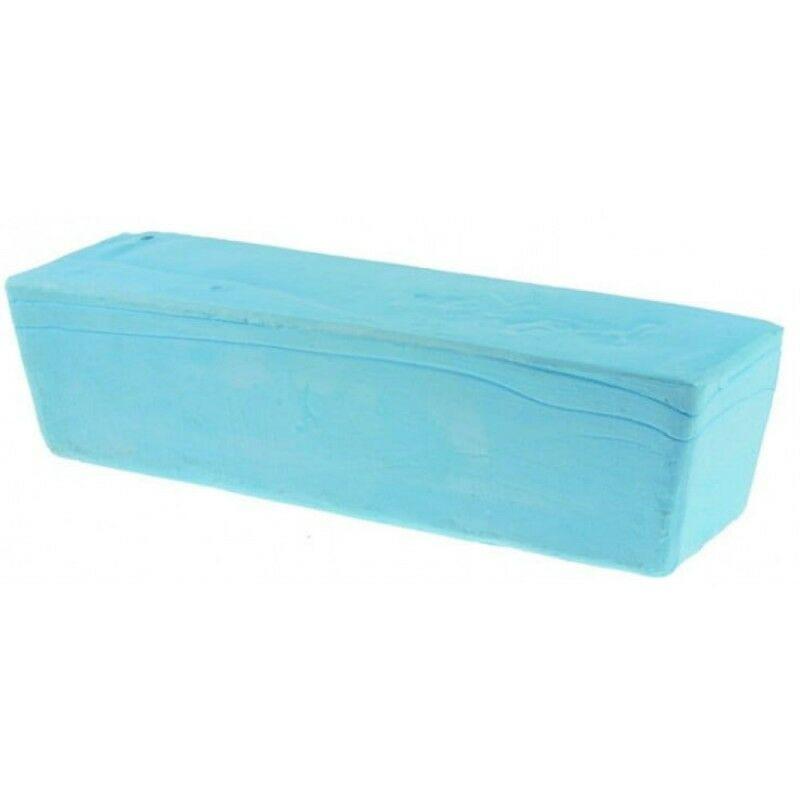 Pâte à polir bleue Acier 800g, métaux non ferreux