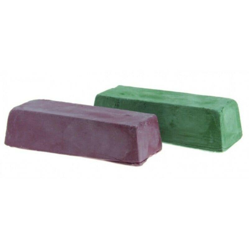 Pâte à polir verte + rouge 2pcs 2x200g