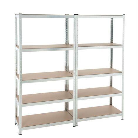 Étagère enfichable étagère d'atelier étagère de sous-sol étagère de rangement