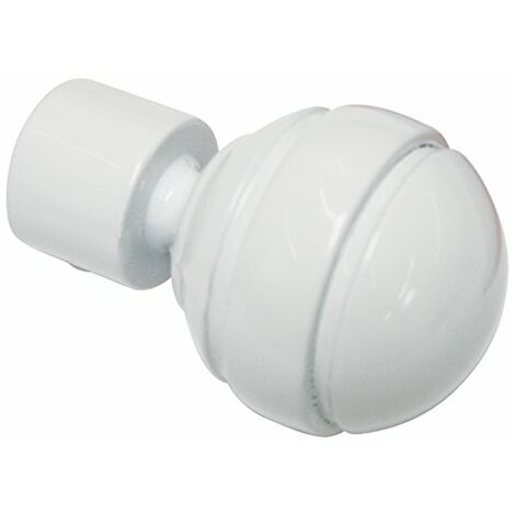 Ateliers 28 Diametre 20 Metal 1 Embout Boule Blanc Mat