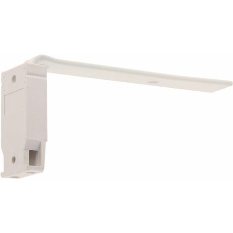 ATELIERS 28 | RAIL FLEXIBLE 14X8 | 2 SUPPORTS EQUERRE MÉTAL + MURALE | 125MM | BLANC