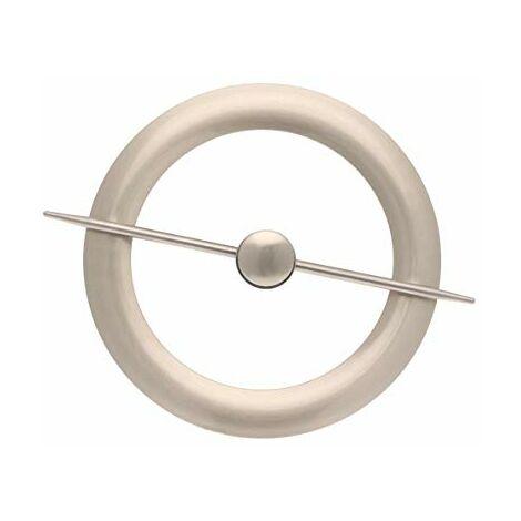 Ateliers28 _ Accessoire de Rideau 1 Embrasse Métal avec Magnet Central (Chrome Mat)