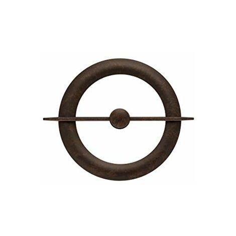 Ateliers28 _ Accessoire de Rideau 1 Embrasse Métal avec Magnet Central (Rouille)