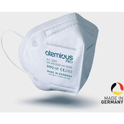 Atemschutzmaske atemious pro FFP2 Made in Germany Box à 30 Stk einzeln foliert