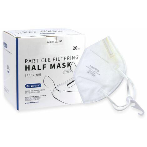 Atemschutzmaske FFP2 NR, Lanhine CE 0598, 20 Stück