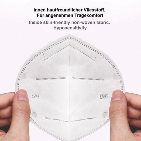 Atemschutzmaske KN95  - Gesichtsmaske - Mundschutz Maske