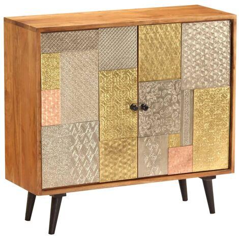 """main image of """"Atencio Solid Acacia Wood Sideboard by Bloomsbury Market - Multicolour"""""""