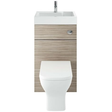 Athena 500mm Driftwood WC/Basin Unit Combi & Cisten (Exc. Pan & Seat)