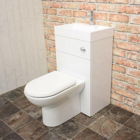 Athena 500mm Gloss White WC & Basin Combi (Inc. San Diego Pan, Basin, Cistern)
