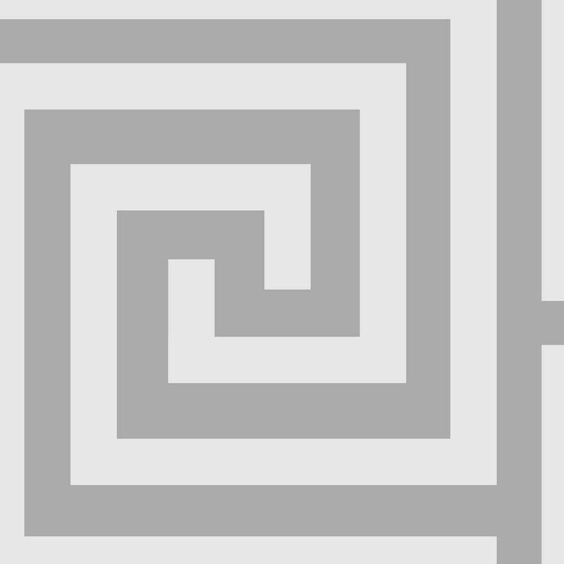 Image of Athena Debona White and Silver Glitter Wallpaper Metallic Vinyl Greek Key Aesthetic