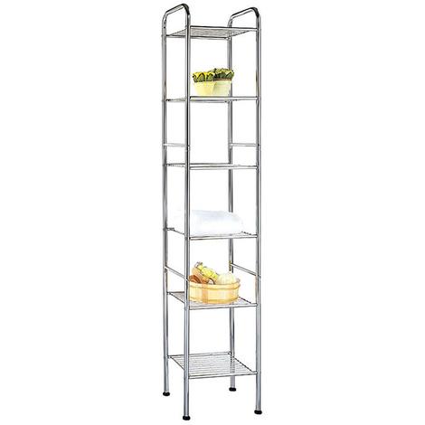 ATHENA - Six Tier Metal Storage / Display Shelves - Silver