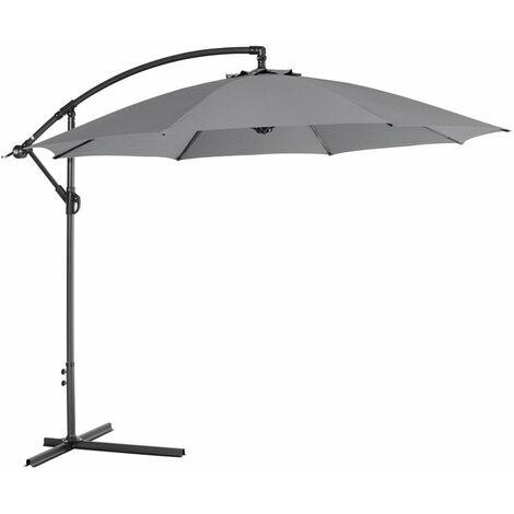 Athene parasol 300cm carbon black / light grey