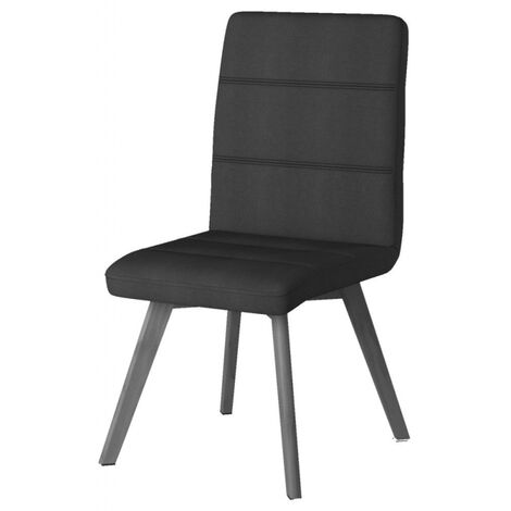 Athens Grey Ribbed Back Home Office Desk Chair Height Adjustable Tilt Lock