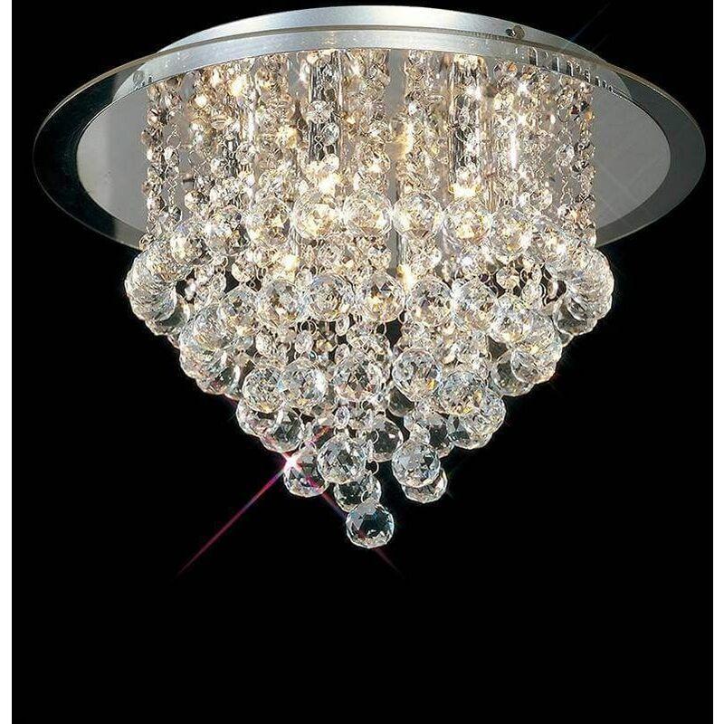 Image of Atla 6-light ceiling light in polished chrome / acrylic / crystal trim