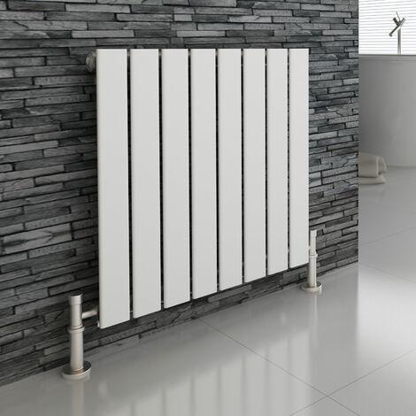 Atlanta White 600 x 600 Horizontal Flat Panel Designer Radiator Central Heating